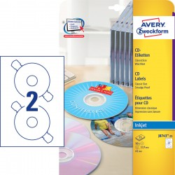 Avery Zweckform J8743-25 öntapadó CD címke ø 117 mm