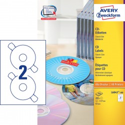 Avery Zweckform L6043-100 öntapadó CD címke ø 117 mm