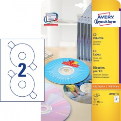 Avery Zweckform L6043-25 öntapadó CD címke ø 117 mm