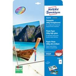 Avery Zweckform 2586-15 magasfényű fotópapír 200g -os A3
