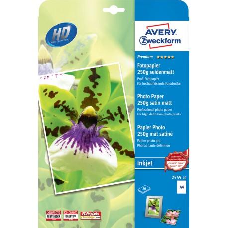 Avery Zweckform 2559-20 selyemmatt fotópapír 250g - os A4