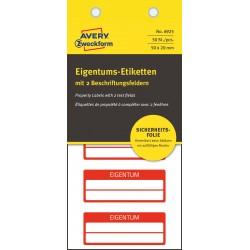 Avery Zweckform 6925 öntapadó biztonsági nyilvántartó címke 50 x 20 mm