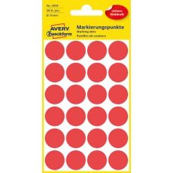 Avery Zweckform 3004 öntapadó jelölő címke- piros, 18 mm