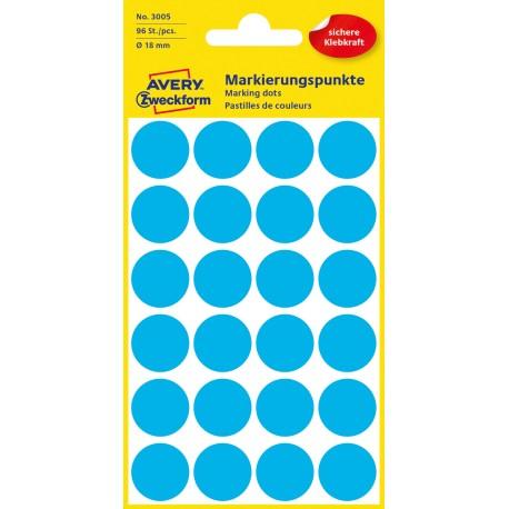 Avery Zweckform 3005 öntapadó jelölő címke- kék, 18 mm