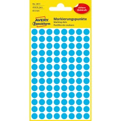 Avery Zweckform 3011 öntapadó jelölő címke- kék, 8mm