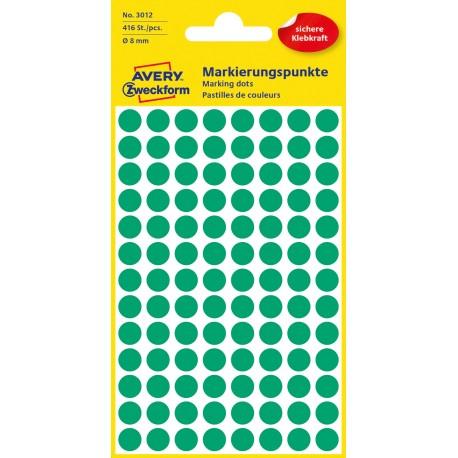 Avery Zweckform 3012 öntapadó jelölő címke- zöld, 8mm