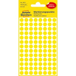 Avery Zweckform 3013 öntapadó jelölő címke- sárga, 8mm
