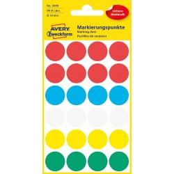 Avery Zweckform 3089 öntapadó jelölő címke - vegyes - 5 szín, 18 mm