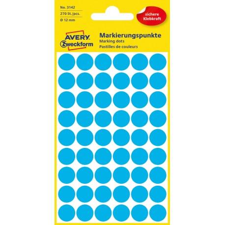 Avery Zweckform 3142 öntapadó jelölő címke  - kék, 12 mm