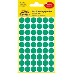 Avery Zweckform 3143 öntapadó jelölő címke - zöld, 12 mm
