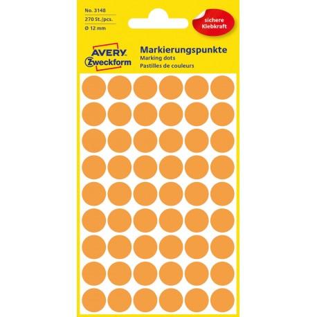 Avery Zweckform 3148 öntapadó jelölő címke  -  neon sárga, 12 mm