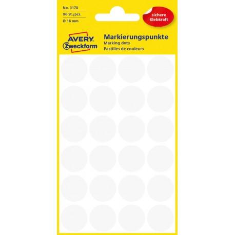 Avery Zweckform 3170 öntapadó jelölő címke - fehér, 18 mm