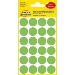 Avery Zweckform 3174 öntapadó jelölő címke  - neon zöld, 18 mm