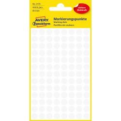 Avery Zweckform 3175 öntapadó jelölő címke  - fehér, 8 mm