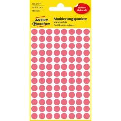 Avery Zweckform 3177 öntapadó jelölő címke  -  neon piros, 8 mm