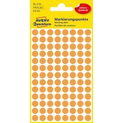 Avery Zweckform 3178 öntapadó jelölő címke  - neon sárga, 8 mm