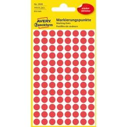 Avery Zweckform 3589 öntapadó visszaszedhető jelölő címke  - piros  Ø 8 mm