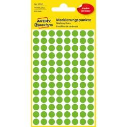 Avery Zweckform 3592 öntapadó visszaszedhető jelölő címke  - fűzöld  Ø 8 mm