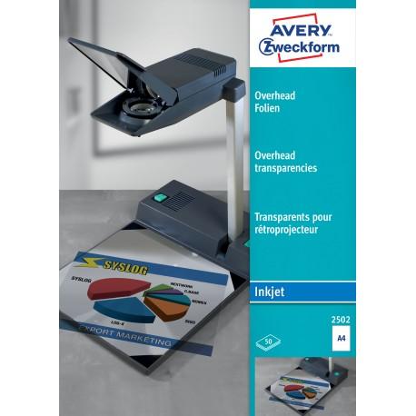 Avery 2502 írásvetitő fólia tintasugaras nyomtatóhoz