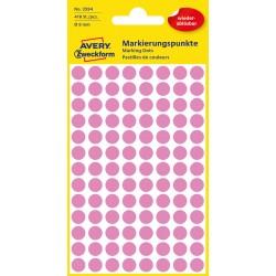 Avery Zweckform 3594 öntapadó visszaszedhető jelölő címke  - rózsaszín  Ø 8 mm