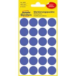 Avery Zweckform 3596 öntapadó visszaszedhető jelölő címke  - indigókék  Ø 18 mm