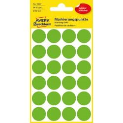 Avery Zweckform 3597 öntapadó visszaszedhető jelölő címke  - fűzöld  Ø 18 mm