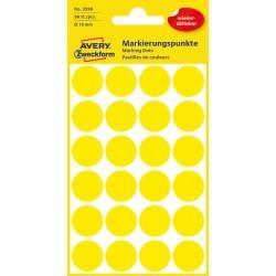 Avery Zweckform 3598 öntapadó visszaszedhető jelölő címke  - napsárga  Ø 8 mm