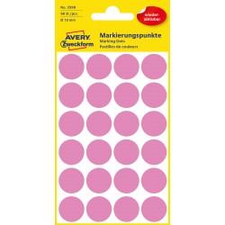 Avery Zweckform 3599 öntapadó visszaszedhető jelölő címke  - rózsaszín  Ø 18 mm
