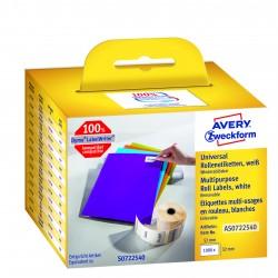 Avery Zweckform AS0722540 tekercses öntapadó címke, thermo nyomtatóhoz  57 x 32 mm