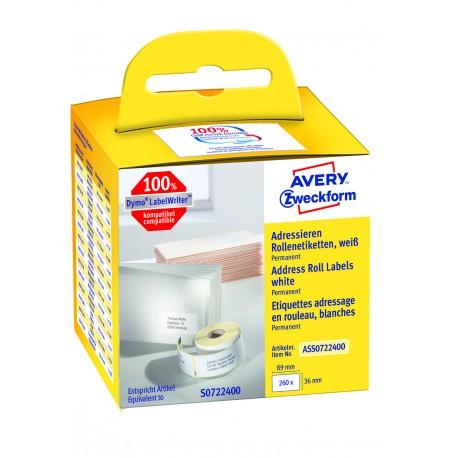 Avery Zweckform ASS0722400 tekercses öntapadó címke, thermo nyomtatóhoz 36 x 89 mm