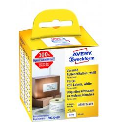 Avery Zweckform ASS0722430 tekercses öntapadó címke, thermo nyomtatóhoz 54 x 101 mm