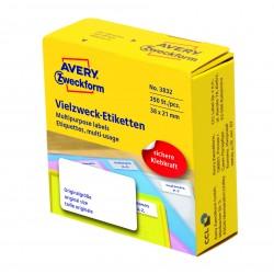 Avery Zweckform 3832 univerzális címkék adagoló dobozban 38 x 21mm - fehér