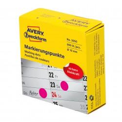 Avery Zweckform 3850 öntapadó jelölőpont adagoló dobozban  - pink 10 mm