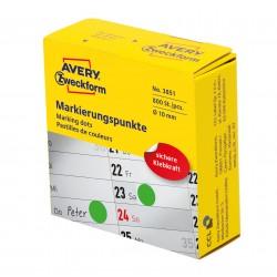 Avery Zweckform 3851 öntapadó jelölőpont adagoló dobozban - zöld 10 mm