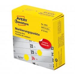 Avery Zweckform 3852 öntapadó jelölőpont adagoló dobozban - sárga 10 mm