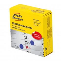 Avery Zweckform 3853 öntapadó jelölőpont adagoló dobozban- kék 10 mm