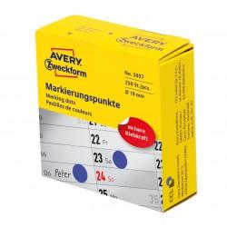 Avery Zweckform 3857 öntapadó jelölőpont adagoló dobozban - kék 19 mm