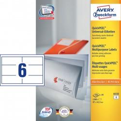 Avery Zweckform 6132 univerzális címke DIN A5, 97x 42,3 mm
