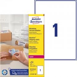 AVERY ZWECKFORM fehér nagy fedőképességű öntapadó csomagcímke 199,6 x 289,1 mm
