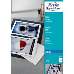 Avery Zweckform 2507 fehér fényes öntapadó fólia tintasugaras nyomtatóhoz