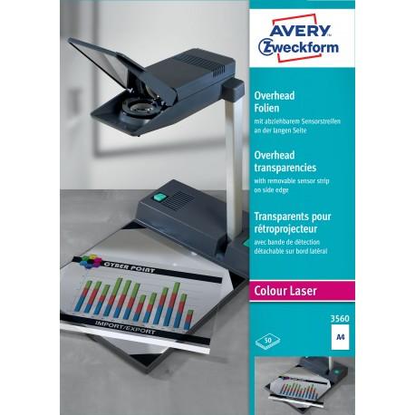 Avery Zweckform 3560 írásvetítő fólia, hosszú oldalán érzékelőcsíkkal