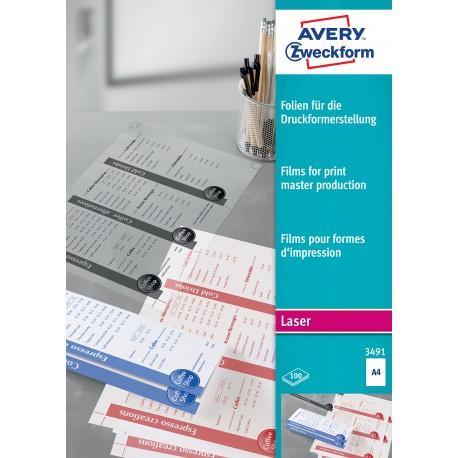 Avery Zweckform 3491 matt fólia lézer nyomtatóhoz